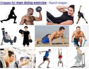 Man doing exercise