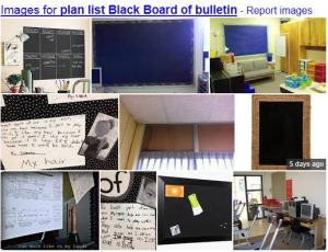 Plan list - Black board of bulletin
